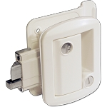 Global Travel Trailer Entrance Door Lock, White