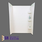 Specialty Recreation Shower Surround - ABS Plastic - White - 24