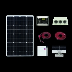Zamp Solar 100 Watt Deluxe Roof Mounted RV Kit 1003
