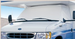 '97-'00  Windshield Cover For Chevy-GMC Class C Motorhomes White,  2408