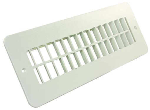 Floor Heating/Cooling Register Without Damper Polar White, 288-86-A-PW-A