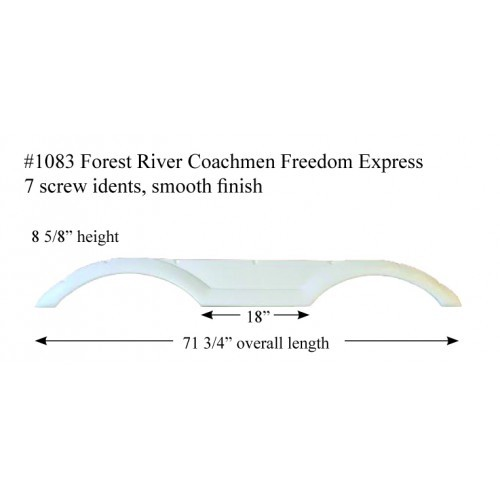 Forest River Coachmen Freedom Express Fiberglass Fender Skirt 71 3/4
