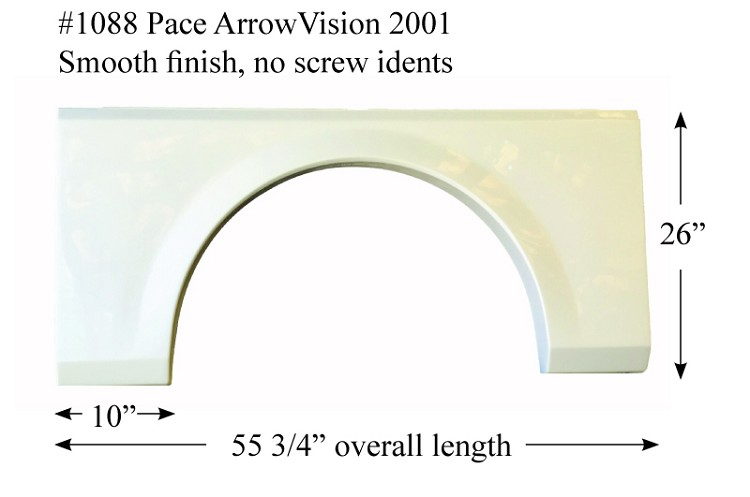 2001 Fleetwood Pace Arrow Vision Fiberglass Fender Skirt 55 3/4