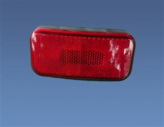 Command Clearance Light Round Corner Lens Red with Black Base, 003-58B