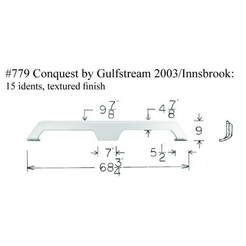 Gulfstream Conquest Fiberglass Fender Skirt 68 3/4